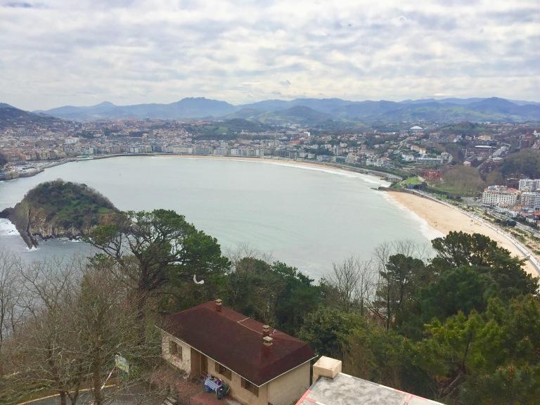 San Sebastián from Montei Gueldo