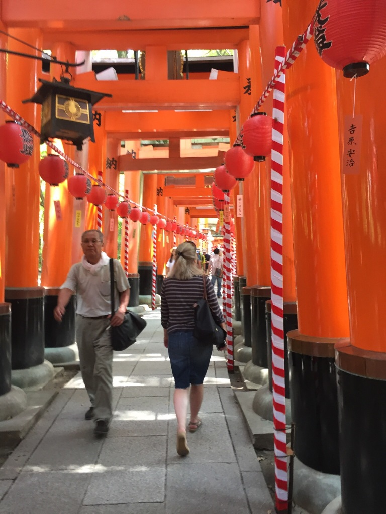 the Fushimi Inari shrine.