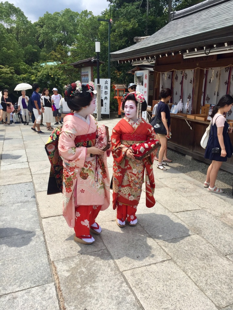 Geisha Girls at the Yanksa-Jinga Shrine