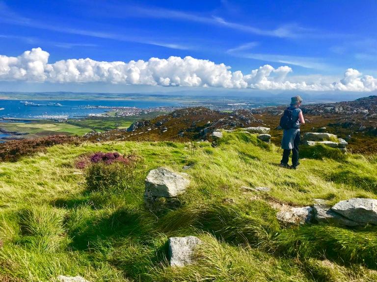 Near the summit of Caer y Twr, North Stack