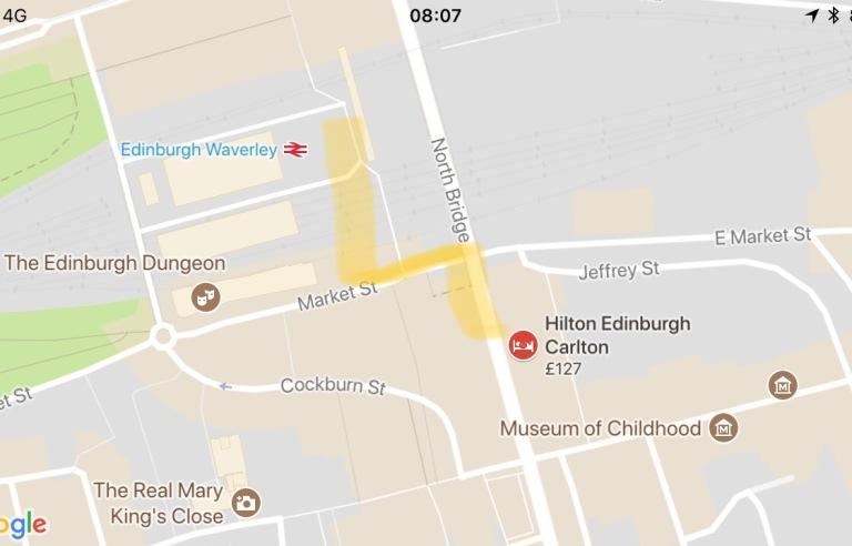 Hilton Carlton Edinburgh Location