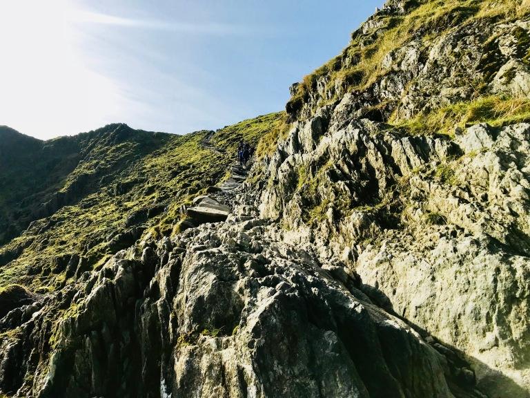 Snowdon Pyg Track Rock Scrambling